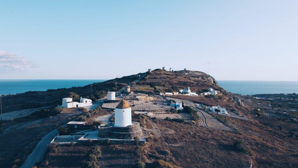 Santorini fotografia z drona DJI Mavic Mini