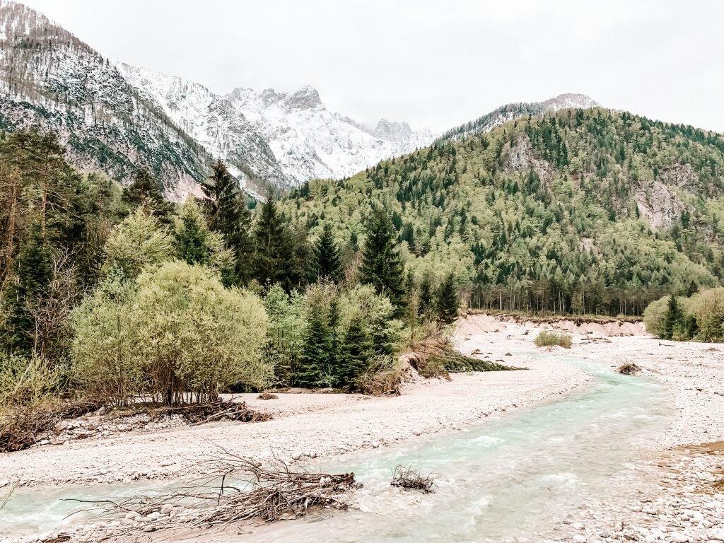 Rzeka Socza, Słowenia