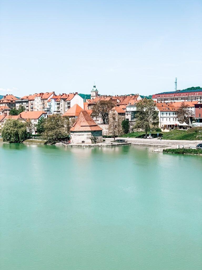 Widok na zabytkową część Mariboru