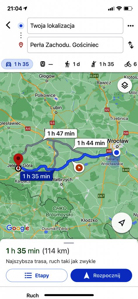 Google Maps - nawigacja