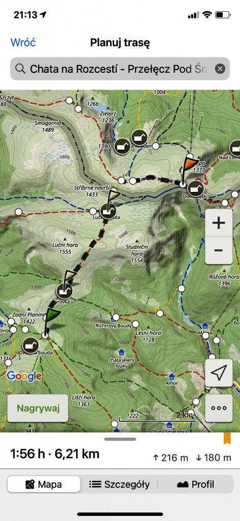 Mapa Turystyczna - szczegóły trasy