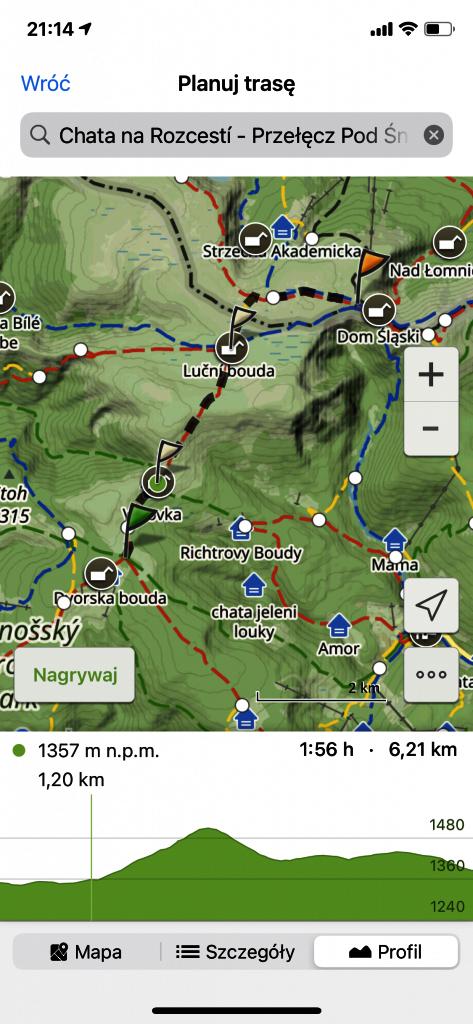 Mapa Turystyczna - wyznaczanie trasy