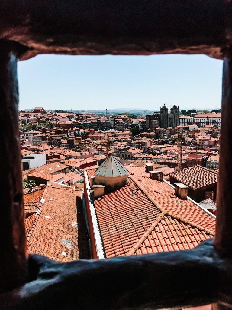Panorama Porto z okien Centro Portugues de Fotografia