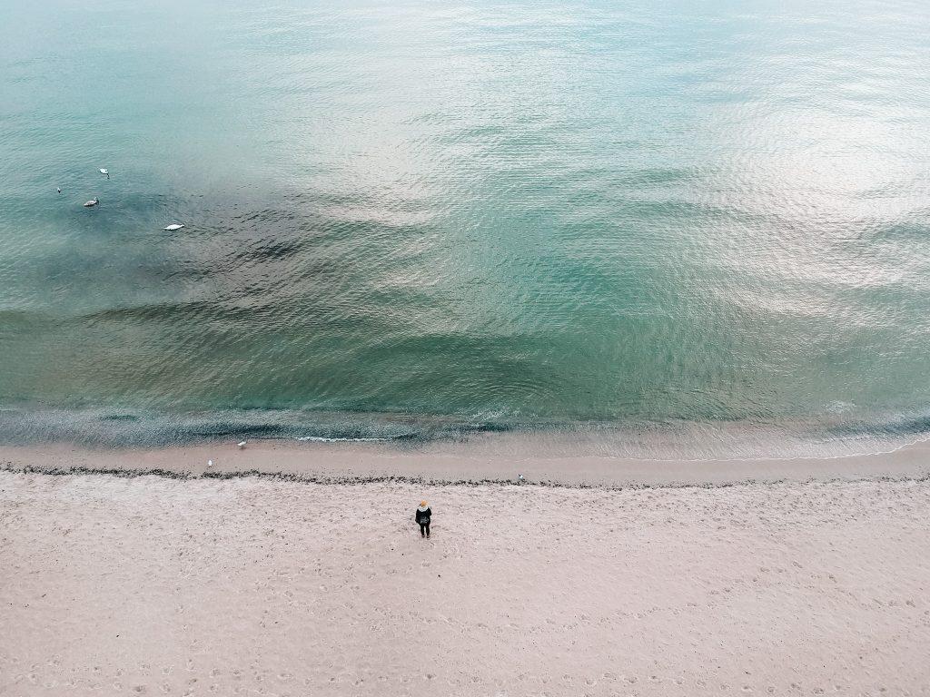 Paulina na plaży w Sopocie
