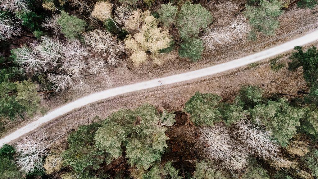 Geościeżka widziana z lotu ptaka