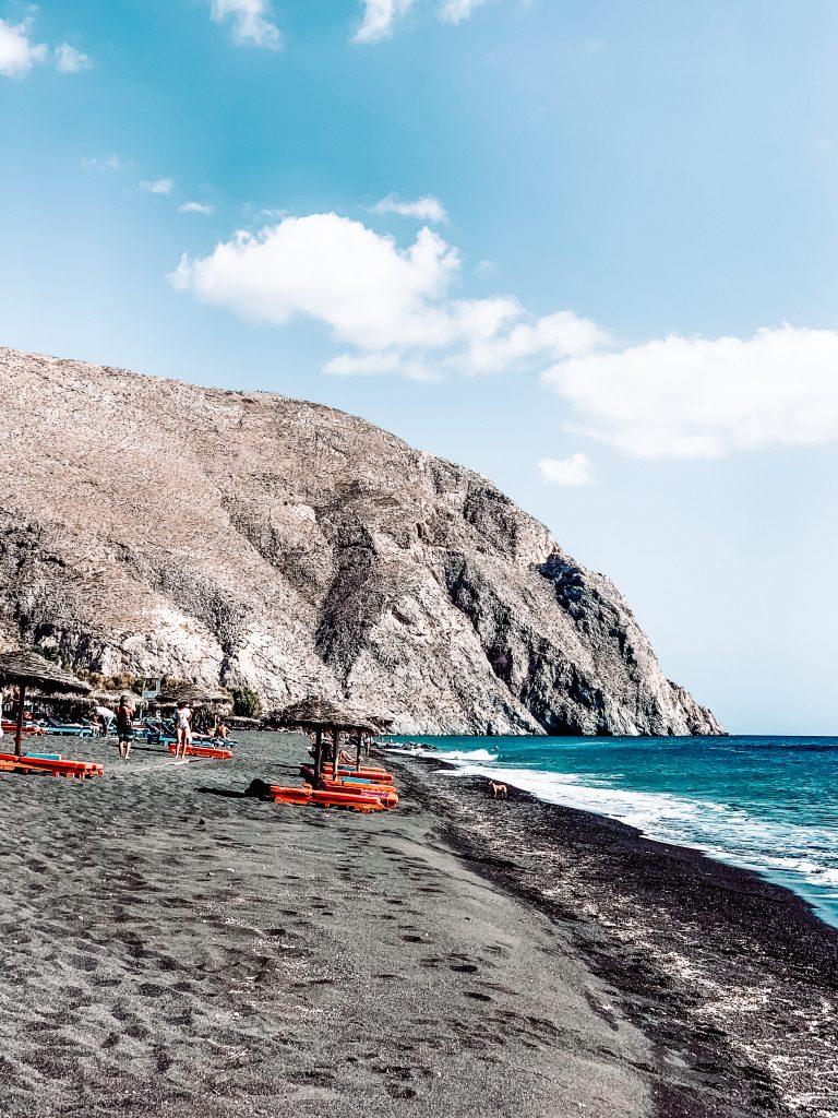 Plaża przy Perissa