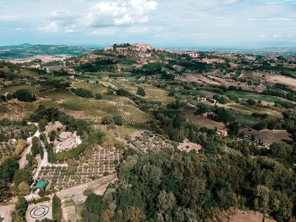 Toskania zdjęcie z drona
